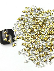 300PCS 3D Golden Triangle Alloy Nail Art Golden & Silver Schmuck