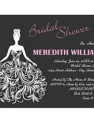 Personalized Horizontal Bridal Shower Cards - Set of 12