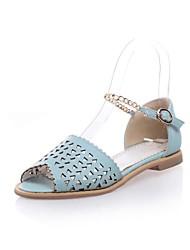Frauen Flache Heel Sandaletten mit offener Schuh-Kette Schuhe (weitere Farben)