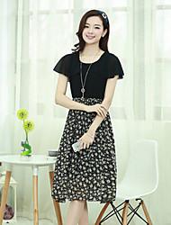 Women's Dresses , Chiffon Casual/Work LEY