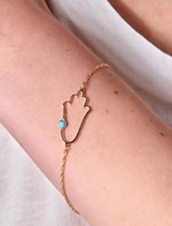 shixin® mão cadeia de liga de ouro 18 centímetros europeu das mulheres& pulseira link (1 pc)