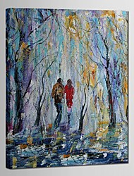 Hand Painted Oil Painting Landscape Lovers Among Trees with Stretched Frame