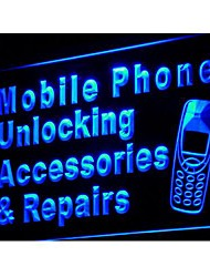 j114 Mobile Phone Accessories Repairs Neon Light Sign