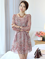 Women's Dresses , Chiffon Casual Cool