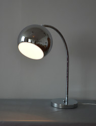 60W Contemporary Table Lamp with Metal Globe Shade and Arc Lamp Arm