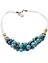 Macaci® European Style Green Turquoise Statement Necklaces