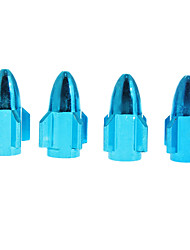 4-pcs Rocket Shaped Metal Tire Valves