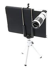12X Tele Aluminium Handyobjektiv mit Stativ für iPad Mini