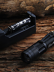 SK68 450LM LED Flashlight + 2x14500 batterie + chargeur