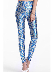 Women's Metallic Look Serpentine Tight Pant