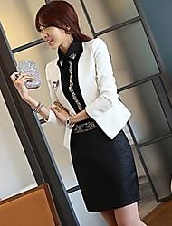 Women's Dress Shirts , Chiffon/Cotton/Cotton Blend/Denim/Mesh/Organza Casual Luto