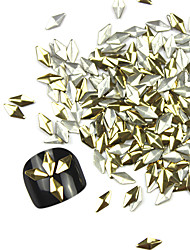 300PCS 3D Golden Rhombus Alloy Nail Art Golden & Silver Schmuck