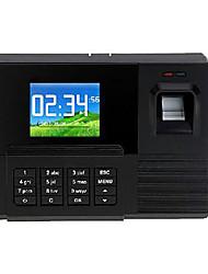TFT Biometric Fingerprint temps de présence des employés horloge enregistreur de paie, 2000 modèles d'empreintes digitales