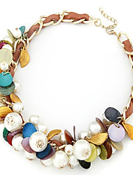 Fashionable Shell and  Pearl Mixing Braided Necklace(More Colors)