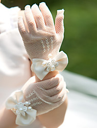 Wrist Length Fingertips Glove Tulle Flower Girl Gloves/Party/ Evening Gloves