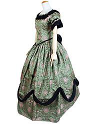 Deluxe Princess Green Brocade Sweet Lolita Dress