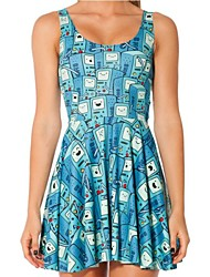 Frauen BMO Digital Print Scoop Neck Skater-Kleid