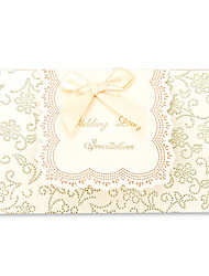 Wedding Invitation With Ribbon Bowknot- Set of 50