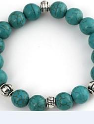 Women's Green Turquoise Beads Bracelet