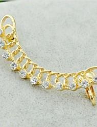 Diamante de la vendimia (en forma de abanico) aleación de oro Puños del oído (oro) (1 PC)