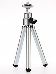 I-12-2-SL Mini Desktop Aluminum Tripod with Single-deck Two Sections (Sliver)