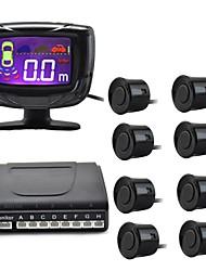 "2"" LCD Digital Display Screen 8-Probes Parking Sensor And Buzzer Alarm - Black (DC 12V)"