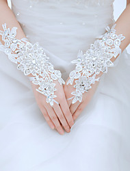 Wrist Length Fingerless Glove Tulle Bridal Gloves/Party/ Evening Gloves