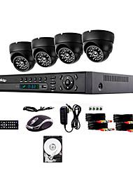 liview ® 700TVL telecamera esterna di sicurezza giorno / notte e 4ch sistema hdmi 960H dvr hard disk da 500GB