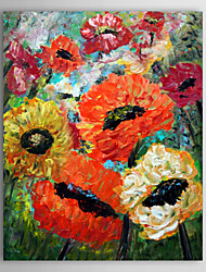 Hand Painted Oil Painting Landscape Flower Scenery Acrylic Art with Stretched Frame