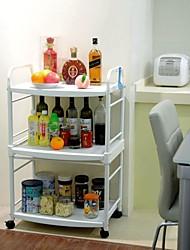SC BYN 3-tier DIY móvel Cozinha Trolley