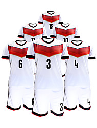 Men's Short Sleeves Soccer Suit White