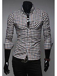 Debe Men's  Casual Check Shirt
