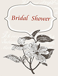 Personalized Double Side Vertical Bridal Shower Cards - Set of 12