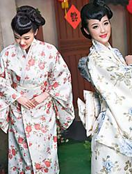 Noble Japanese Girl Hot Spring Yuka Floral Pattern Women's Ethnic Costume