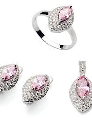 Bijoux-Colliers décoratifs / Boucles d'oreille / Anneaux(Plaqué argent)Soirée / Quotidien / Décontracté Cadeaux de mariage