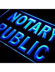 s200 Notary Public Service Office NEW Neon Light Sign