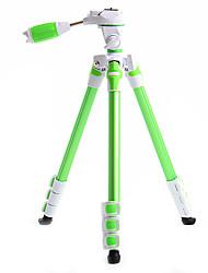 Fotopro S3 Aluminium Tripod + 1/4 Ball Head For Cameras Camcorders DSLR DV (Green)