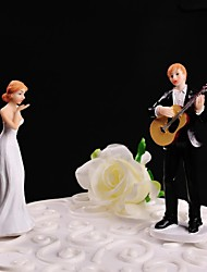 Cake Topper Non-personalized Classic Couple Resin Wedding White / Black Floral Theme / Classic Theme Gift Box