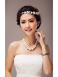 Jewelry Set Women's Wedding / Special Occasion Jewelry Sets Alloy Imitation Pearl Necklaces / Tiaras As the Picture