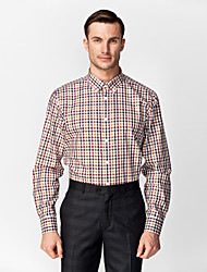 Black&Brown&Red&White 100% Cotton Gingham Shirt