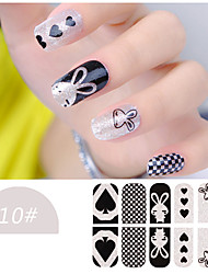 DF COLOR Manicura Suministros Nail Sticker Manicura Calcomanías (Z010)