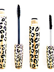 2PCS Leopard Waterproof Eye Lash Expansion allungamento Curling Mascara Set (1 Mascara +1 Fibre)