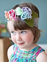 Children's Hair Decoration Cotton Flower Elastic Headband