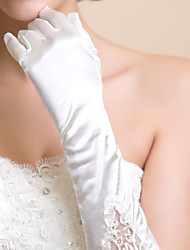 Elbow Length Fingertips/Shiny Glove Lycra Bridal Gloves
