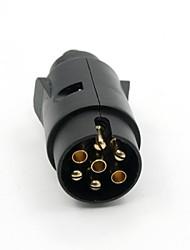 Type de Tirol 7 Pin Bande Noir Plug plastique 7 Pôle Remorque fils Connecteur 12V Attelage de remorquage Plug N Remorque Fin