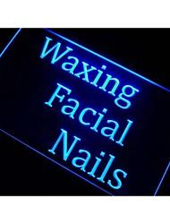 depilación clavos faciales signo luz de neón del salón de belleza