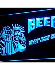 j013 Helping White Guys Dance Beer Neon Light Sign