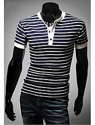 T-shirt a maniche corte con scollo a V Fashion Stripes Uomo Slim