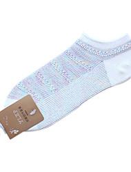 Pur coton de couleur chaussettes de sport de femmes (couleurs assorties, One-Size EUR36-39)