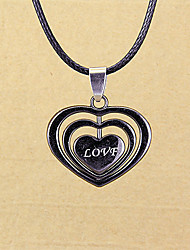 WCY Korean Refinement  Unique Heart Pendant Necklace(Black)